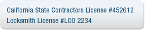 Ca contractors license locksmith license mvlock